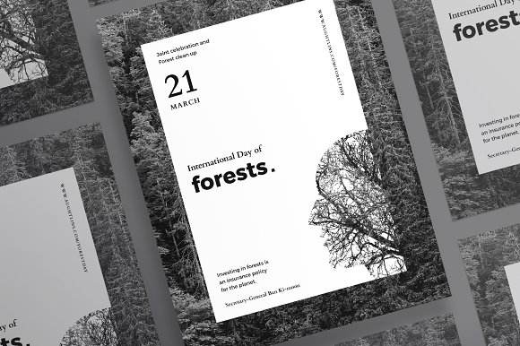 Posters | Forests Day in Flyer Templates