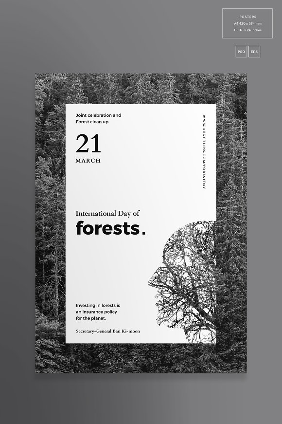 Posters | Forests Day in Flyer Templates - product preview 1