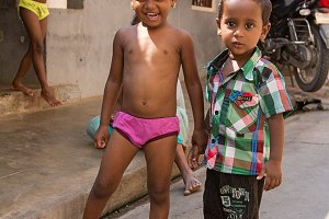 Brother and sister, indian children