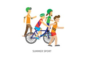 Summer Sport. Children Going in for Sport