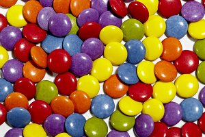 Color dragee background.