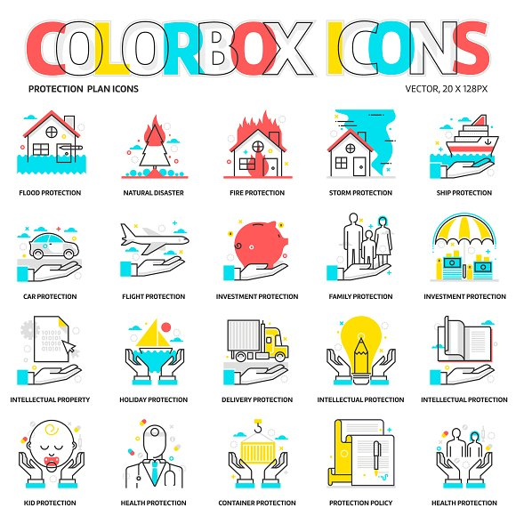 Colorbox Icons Insurance
