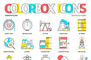 Colorbox icons, Industry