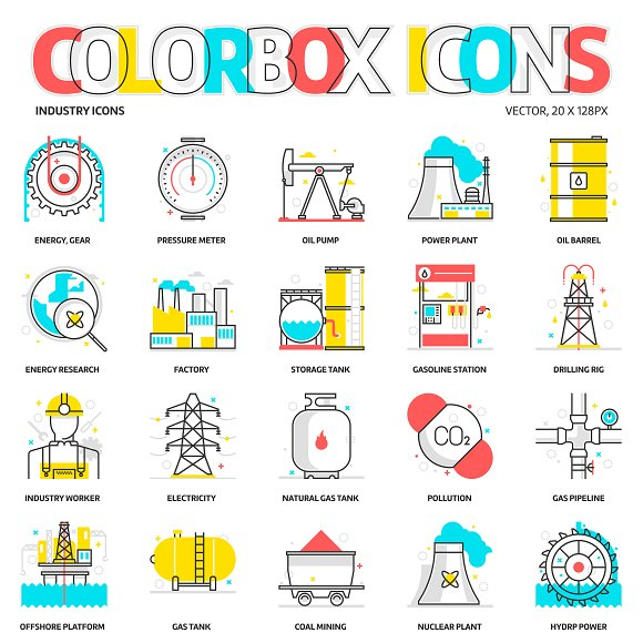 Colorbox Icons Industry