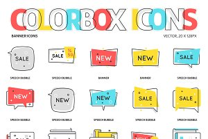 Colorbox icons, Banners