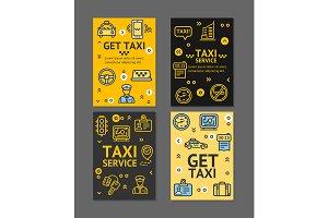 Taxi Line Service Flyer Banner Set