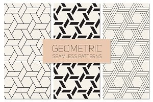 Geometric Seamless Patterns Set 19