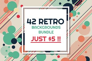 42 RETRO BACKGROUNDS BUNDLE-vol.2