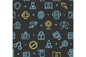 Data Security Pattern Background
