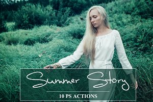 Summer Story - PS Actions Set