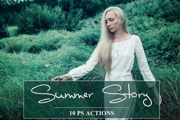 Summer Story PS Actions Set
