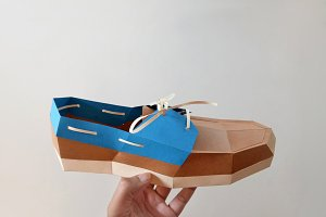 DIY Boat Shoe - 3d papercrafts