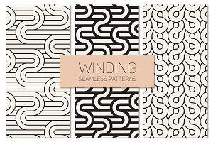 Winding Seamless Patterns Set 6