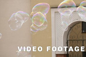 Soap bubble flying - slowmotion 60fps