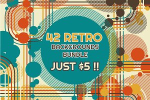 42 RETRO BACKGROUNDS BUNDLE-vol.3