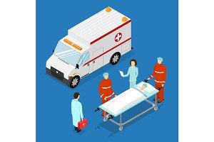 Ambulance Service Concept. Vector