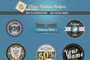 Clean Vintage Badges