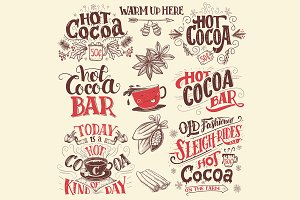 Hot Cocoa Signs Set