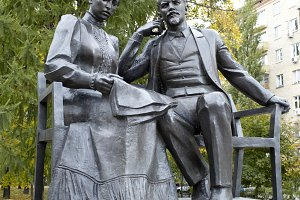 Lenin and Krupskaya.