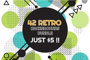 42 RETRO BACKGROUNDS BUNDLE-vol.4