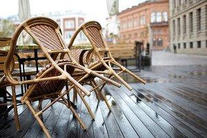Street cafe in Riga