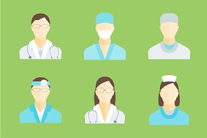 Medical Staff Man and Woman. Vector