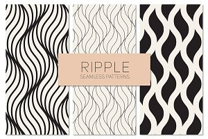 Ripple Seamless Patterns Set 3