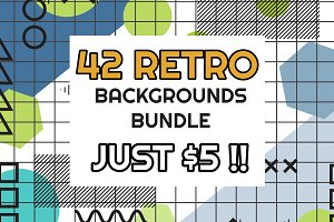 42 RETRO BACKGROUNDS BUNDLE-vol.5