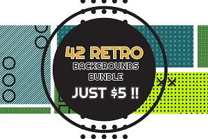 42 RETRO BACKGROUNDS BUNDLE-vol.6