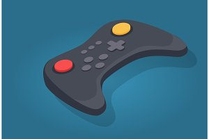 Wireless Joystick or Video Game Controller Icon