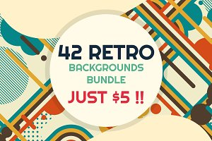 42 RETRO BACKGROUNDS BUNDLE-vol.1
