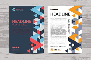 Modern Geometric flyer template.
