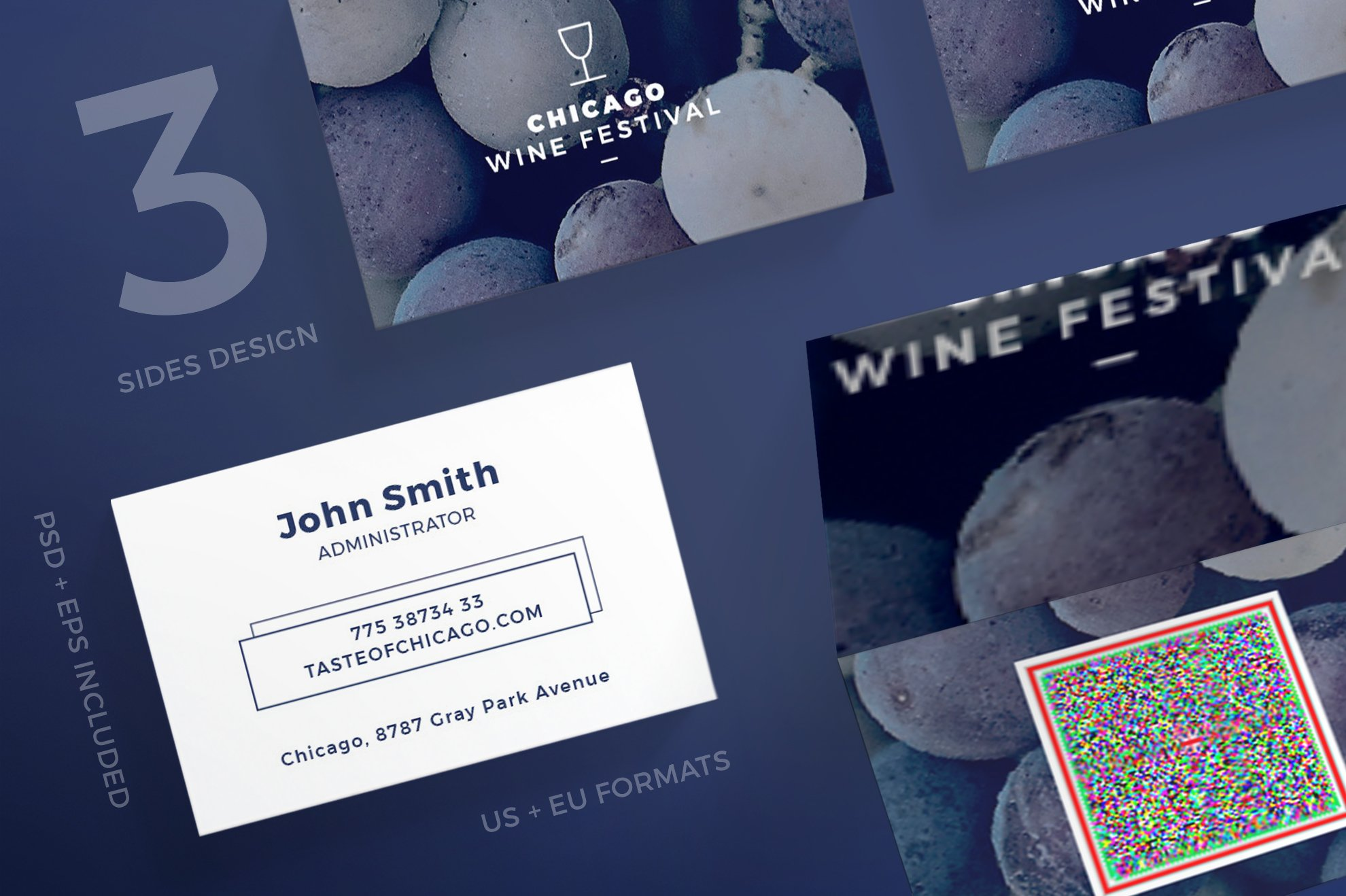 Business Cards | Wine Festival ~ Business Card Templates ~ Creative ...