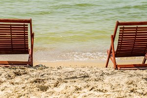 chair on the beach, summer holiday,