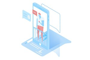Chat online isometric