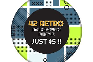 42 RETRO BACKGROUNDS BUNDLE-vol.7