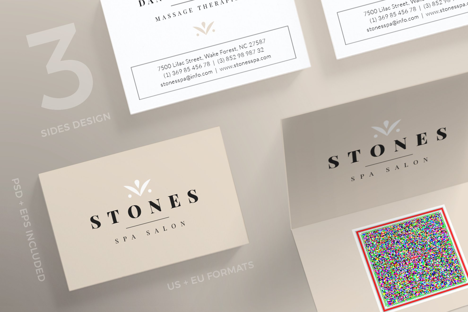 Business Cards | Stones Spa ~ Business Card Templates ~ Creative Market