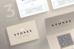 Business Cards | Stones Spa