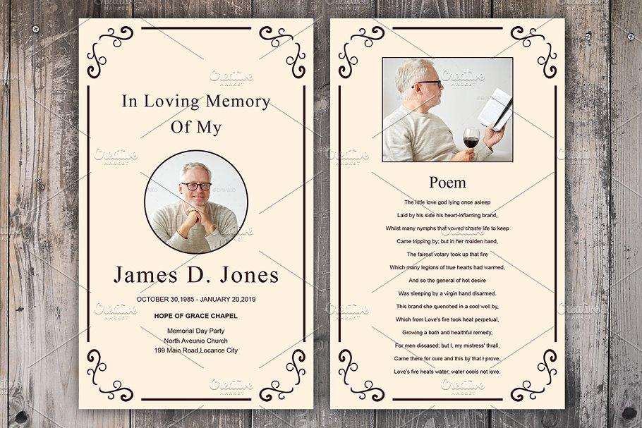 Funeral Prayer Card Template