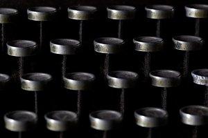 vintage typewriter detail