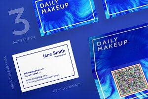 Business Cards | Makeup Blue