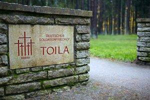 Cemetery German soldiers in Toila