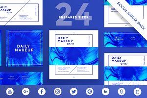 Social Media Pack | Makeup Blue