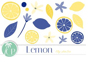 Lemon Clip Art Set