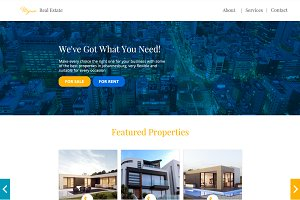 Minimalistic Real Estate Website PSD