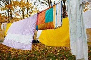 Bright colorful linen.
