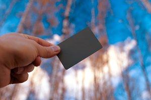 Grey photo card.