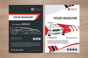 Service Car business flyer.