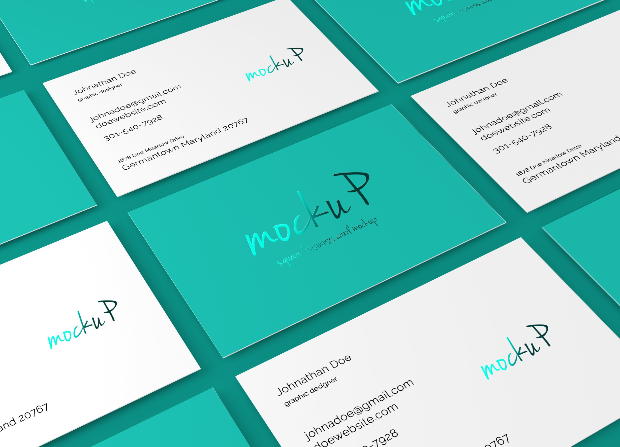 Square Business Card Mockup ~ Product Mockups ~ Creative Market