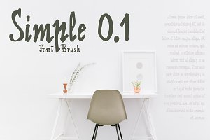 60% discount Simple 0.1 Brush Font
